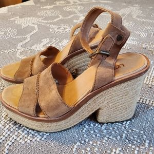 NWOT Uggs size 9 wedge sandal